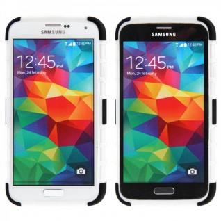 Hybrid Case 2 teilig Robot Weiss Cover Hülle für Samsung Galaxy S5 Mini G800 F - Vorschau 2