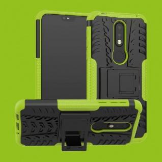Für Nokia 7.1 5.84 Zoll Hybrid Case 2teilig Outdoor Grün Tasche Hülle Cover Etui