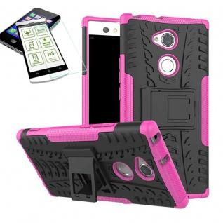 Hybrid Case 2 teilig Pink für Sony Xperia XA2 Hülle + 0, 3 mm H9 Hartglas Neu