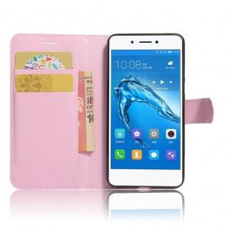 Tasche Wallet Premium Rosa für Huawei Honor 6C Hülle Case Cover Etui Schutz Neu - Vorschau 5