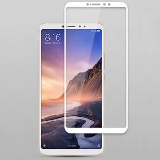 Für Xiaomi MI MAX 3 3D Premium 0, 3 mm H9 Hart Glas Weiß Folie Schutz Hülle Neu