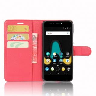 Tasche Wallet Premium Rot für Wiko Upulse Hülle Case Cover Etui Schutz Zubehör - Vorschau 4