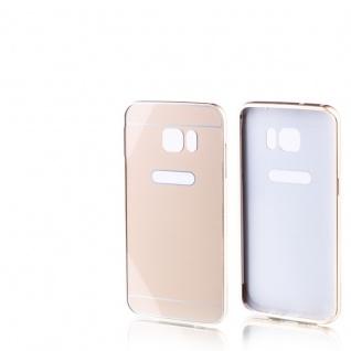 Alu Bumper 2 teilig Gold für Samsung Galaxy S7 Edge G935F Hülle Case Tasche Neu