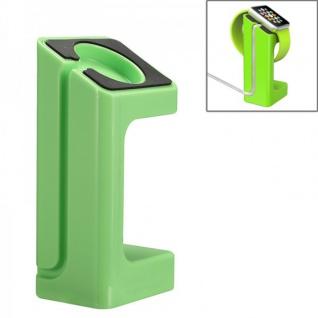 Halterung Grün für Apple Watch Ständer Tisch Zubehör Lade Station 38mm 42mm Neu