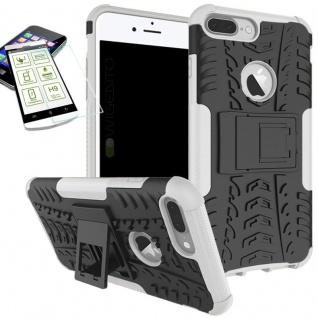 Hybrid Tasche Outdoor 2teilig Weiß für Apple iPhone 8 7 Plus 5.5 Hülle + Glas