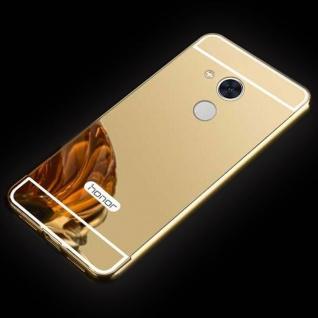 Spiegel / Mirror Alu Bumper 2teilig Gold für Huawei Honor 6A Tasche Hülle Case