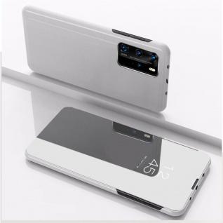 Für Xiaomi Mi 10T / 10T Pro 5G View Smart Cover Hülle Silber Handy Tasche Etuis