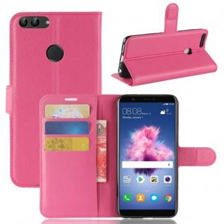 Tasche Wallet Premium Pink für Huawei Enjoy 7S / P Smart Hülle Case Cover Schutz