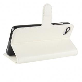Tasche Wallet Premium Weiß für Wiko Sunny 2 Plus Hülle Case Cover Etui Schutz - Vorschau 5