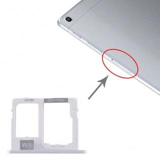 Simkartenhalter für Samsung Galaxy Tab A 10.1 2019 Micro SD Card Tray Silber