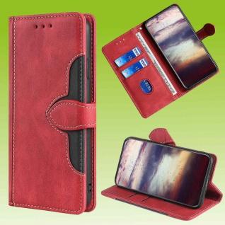 Für Samsung Galaxy S20 FE Design Handy Tasche Rot Etuis Schutz Kunst-Leder Hülle