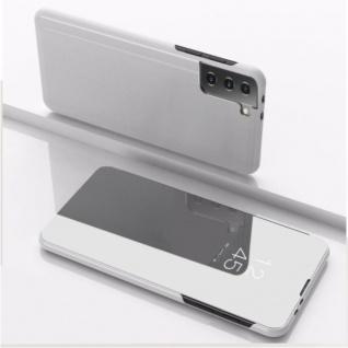 Für Samsung Galaxy S21 Plus View Smart Cover Hülle Silber Handy Tasche Etuis Neu