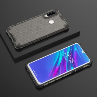 Für Huawei P30 Lite + 2020 New Edition Schock Silikon TPU Grau Tasche Hülle Etui