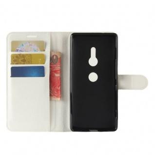 Tasche Wallet Premium Weiß für Sony Xperia XZ2 Hülle Case Cover Schutz Etui Neu - Vorschau 4