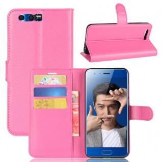 Schutzhülle Pink für Huawei Honor 9 Bookcover Tasche Case Cover Top Zubehör Neu