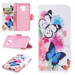 Tasche Wallet Premium Motiv 31 für Samsung Galaxy A8 2018 A530F Hülle Case Etui