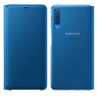 Samsung Wallet Cover Hülle EF-WA750PLEGWW Galaxy A7 2018 A750F Tasche Hülle Blau
