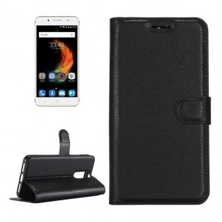 Tasche Wallet Premium Schwarz für ZTE Blade A610 Plus Hülle Case Cover Etui Neu