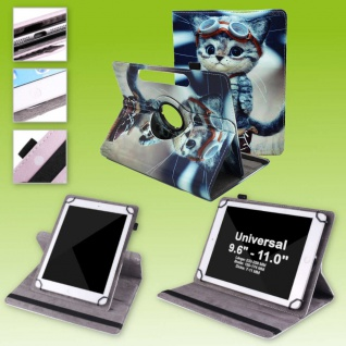 Für Lenovo Tab E10 TB-X104F 10.1 360 Grad Motiv 6 Tablet Tasche Kunst Leder Etui