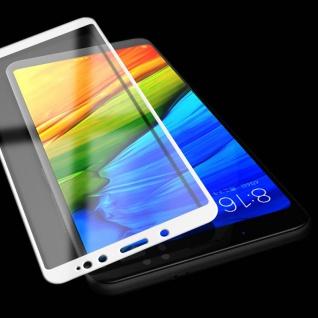 Für Xiaomi Redmi Note 5 3D Premium 0, 3 mm H9 Hartglas Weiß Folie Schutz Neu