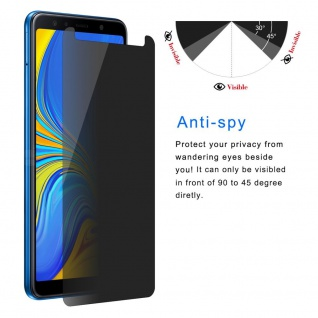 Für Samsung Galaxy A7 2018 0.26 mm Privacy Anti glare Hartglas Display Schutz - Vorschau 4