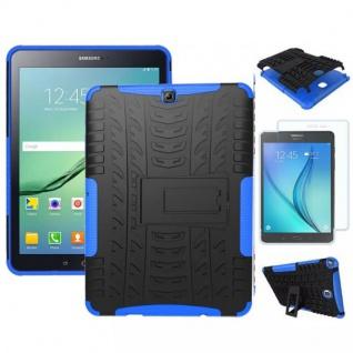 Hybrid Outdoor Tasche Blau für Samsung Galaxy S2 9.7 T810 N + 0.4 H9 Hartglas