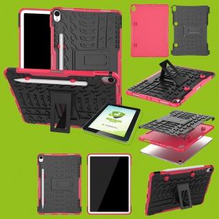 Für Apple iPad Pro 11.0 Zoll 2018 Hybrid Outdoor Pink Tasche + 0.4 H9 Hart Glas