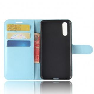 Tasche Wallet Premium Blau für Huawei P20 Hülle Case Cover Schutz Etui Schale - Vorschau 4