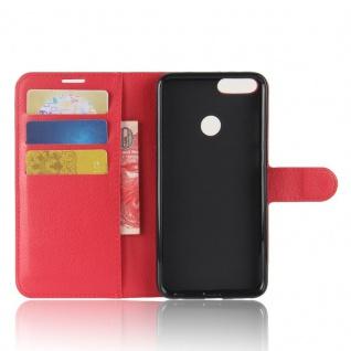 Tasche Wallet Premium Rot für Huawei Enjoy 7S / P Smart Hülle Case Cover Schutz - Vorschau 4