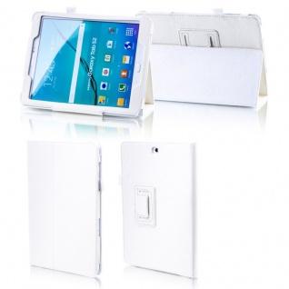 Für Samsung Galaxy Tab A 10.5 T590 T595 Weiß Kunstleder Hülle Cover Tasche Case