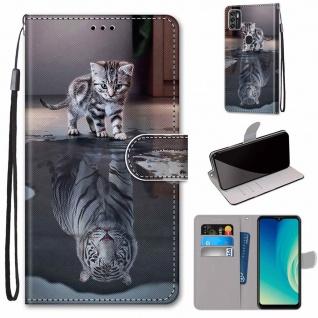 Für ZTE Blade A7s 2020 Kunst-Leder Handy Tasche Motiv 1 Hülle Etuis Cover Schutz