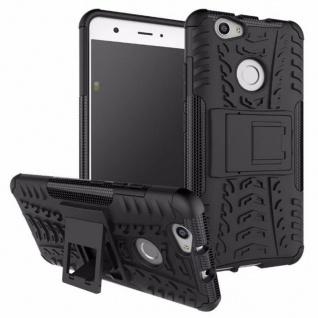 Hybrid Case 2teilig Outdoor Schwarz für Huawei Nova Tasche Hülle Cover Neu Neu