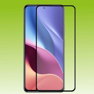 Für Xiaomi Poco F3 / F3 Pro 2x 3D Display LCD H9 Hart Glas Schwarz Folie Panzer