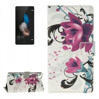 Schutzhülle Muster 3 für Huawei Ascend P8 Lite Bookcover Tasche Hülle Wallet
