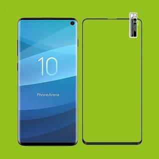 2x Hybrid TPU gebogene Panzer Folie Schwarz für Samsung Galaxy Note 10 Plus N975