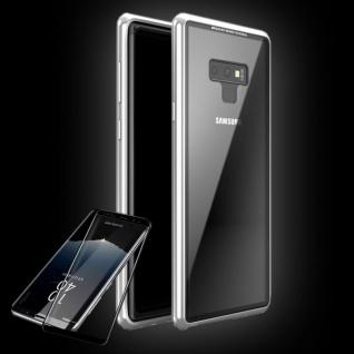 Für Samsung Galaxy S9 Magnet / Metall / Glas Silber / Transparent Tasche Hülle