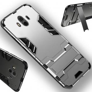 Für Huawei P Smart Plus Metal Style Outdoor Silber Tasche Hülle Cover Schutz Neu