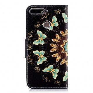 Tasche Wallet Book Muster Motiv 32 für Smartphones Schutz Hülle Case Cover Etui - Vorschau 2