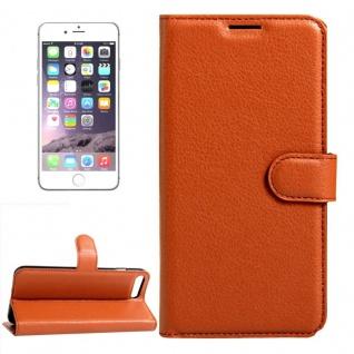 Schutzhülle Braun für Apple iPhone 8 und 7 4.7 Zoll Bookcover Tasche Case Neu