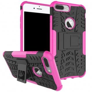 New Hybrid Case 2teilig Outdoor Pink für Apple iPhone 8 und 7 Plus 5.5 Tasche