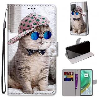 Für Xiaomi Mi 10T Pro / 10T Kunstleder Handy Tasche Book Motiv 2 Hülle Case Etui