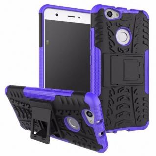 Hybrid Case 2teilig Outdoor Lila für Huawei Nova Tasche Hülle Cover Neu Schutz