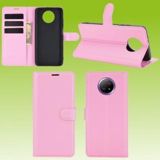 Für Xiaomi Redmi Note 9T 5G Handy Tasche Rosa Etuis Kunst-Leder Cover Hülle Case