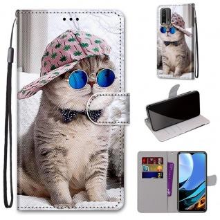 Für Xiaomi Redmi 9 Power / Note 9 4G Kunst-Leder Handy Tasche Motiv 2 Hülle Etui
