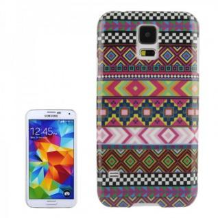 Hardcase Design Muster 99 Hülle Case Cover für Samsung Galaxy S5 G900 G900F Neu