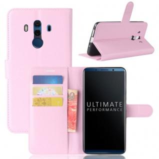 Tasche Wallet Premium Rosa für Huawei Mate 10 Pro Hülle Case Cover Etui Schutz