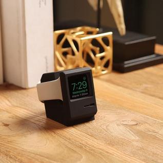 Ständer für Apple Watch Halter Station Retro Style Silikon Halterung Dekoration Schwarz - Vorschau 3