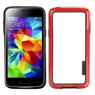 Bumper Rot Hülle Case Schale Tasche für Samsung Galaxy S5 Mini G800 G800F A Neu