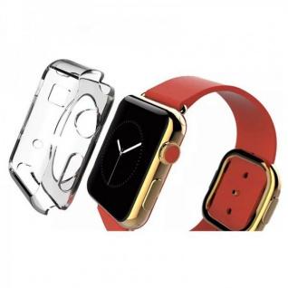 Silikon Case Transparent für Apple Watch 42mm Hülle Cover Schutz Zubehör Kappe