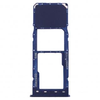 Sim Karten Halter für Samsung Galaxy A10 Blau Card Tray Micro SD Ersatz Zubehör